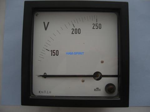 Dreheisen Einbau-Voltmeter